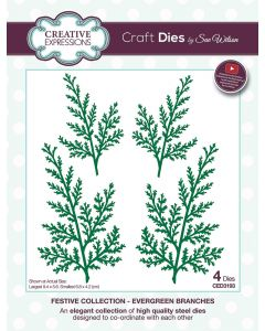 Creative Expressions Festive Collection Craft Die - Evergreen Branches