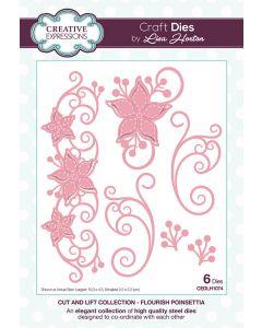 Creative Expressions Cut and Lift Die Set - Flourish Poinsettia