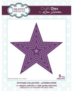 Creative Expressions Stitched Collection Die Set - Layered Stars