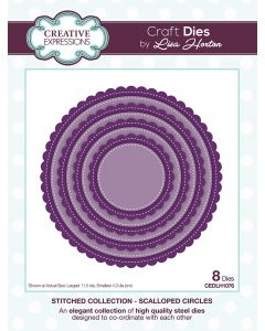 Creative Expressions Stitched Collection Die Set - Scalloped Circles