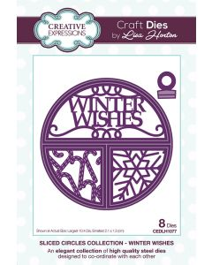 Creative Expressions Sliced Circles Collection Die Set - Winter Wishes