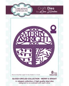 Creative Expressions Sliced Circles Collection Die Set - Merry & Bright