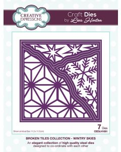Creative Expressions Broken Tiles Collection Die Set - Wintry Skies