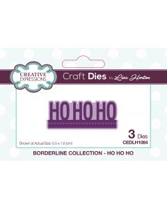 Creative Expressions Borderline Die Set - Ho Ho Ho