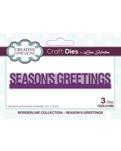 Creative Expressions Borderline Die Set - Seasons Greetings