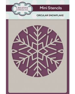 Creative Expressions Mini Stencil - Circular Snowflake