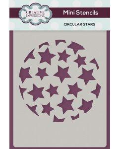 Creative Expressions Mini Stencil - Circular Stars