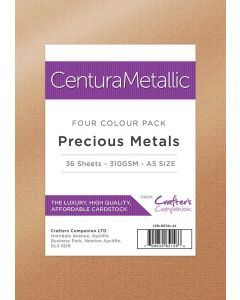 Crafter's Companion Centura Pearl Metallic Card Pack - Precious Metals (A5)