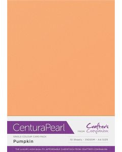 Crafter's Companion Centura Pearl Single Colour A4 10 Sheet Pack - Pumpkin