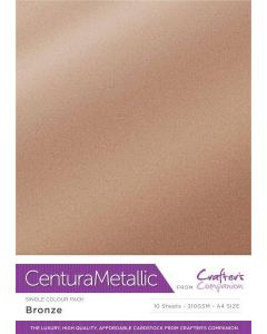 Crafter's Companion Centura Pearl Metallic A4 Single Colour 10 Sheet Pack - Bronze
