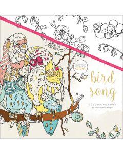 """KaiserColour Perfect Bound Coloring Book 9.75""""X9.75"""" - Bird Song"""