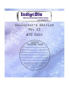 IndigoBlu Collectors Edition Rubber Stamp - Number 23 - ATC Coin