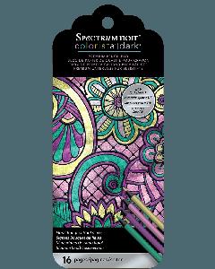 Spectrum Noir Colorista Dark Bookmark Pencil Pad - Floral Bouquet