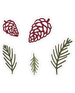 Sara Signature A Winter's Tale Metal Die - Pine Cones and Leaves