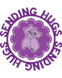 Gemini Circle Sentiments Stamps and Die - Sending Hugs