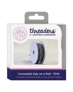 Zips on a Roll - Grey thumb