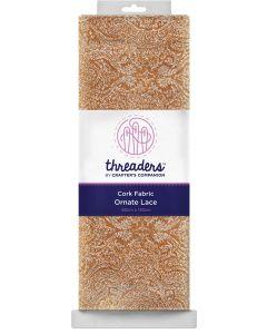 Threaders Cork Fabric - Ornate Lace