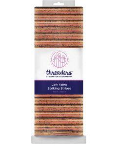 Threaders Cork Fabric - Striking Stripes