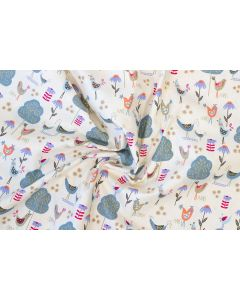 Threaders Country Yard Fabric - Country Blooms