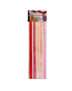 Craft Sensations Self Adhesive Ribbons 5 x 50cm - Red and Pink