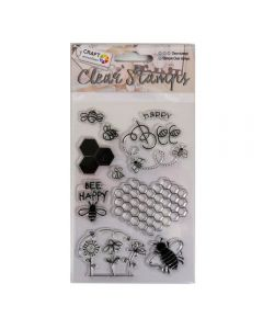 Craft Sensations Clear Stamps - Bee (10 stamps)