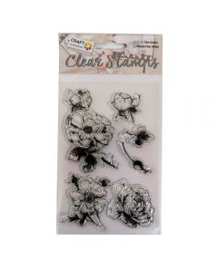 Craft Sensations Clear Stamps - Flower (6 stamps)
