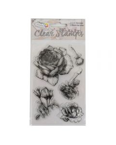 Craft Sensations Clear Stamps - Rose (5 stamps)