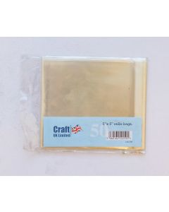 Craft UK 5x5 Cello Bags - pack of 50