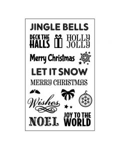 Crafts Too Clear Stamp Set - Christmas Sentiments