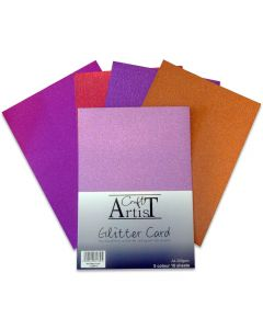 Craft Artist A4 Glitter Card - Warm Tones