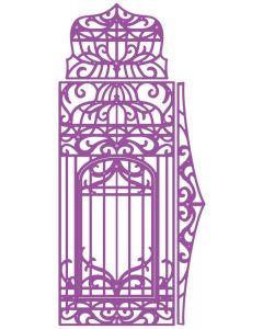 Gemini Dimensionals Ornate Box Die - Birdcage Panel