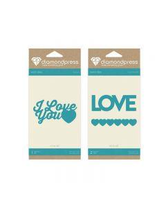 Diamond Press Word Dies - Love and I Love You