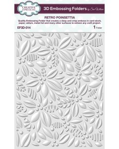 Creative Expressions (5 3/4 x 7 1/2) 3D Embossing Folders by Sue Wilson - Retro Poinsettia