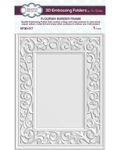 Creative Expressions (5 3/4 x 7 1/2) 3D Embossing Folders by Sue Wilson - Flourish Border Frame