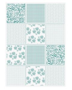 Sara Signature Sew Lovely 5x7 Embossing Folder - Pretty Patchwork