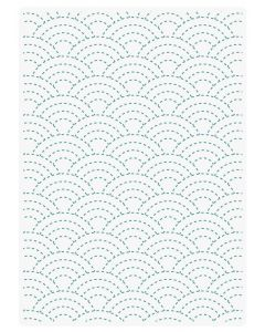 Sara Signature Sew Lovely 5x7 Embossing Folder - Sashiko