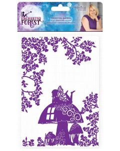 Sara Signature Enchanted Forest 5x7 Embossing Folder - Toadstool Garden