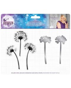 Sara Signature Enchanted Forest Stamp and Die - Delicate Dandelion