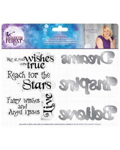 Sara Signature Enchanted Forest Stamp and Die - Fairy Wishes