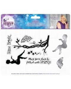 Sara Signature Enchanted Forest Stamp and Die - Shine Bright