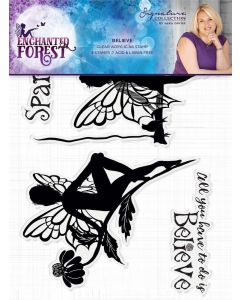 Sara Signature Enchanted Forest Acrylic Stamp - Believe