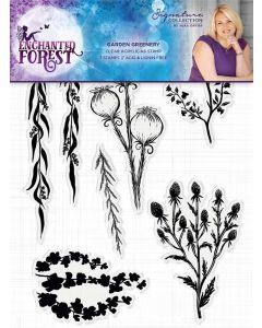 Sara Signature Enchanted Forest Acrylic Stamp - Garden Greenery