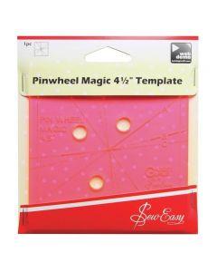 "Sew Easy 4.5"" Pinwheel Template"