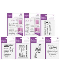 Crafter's Companion Sentiment Stamp Collection