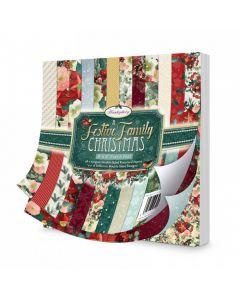 "Hunkydory A Festive Family Christmas 8"" x 8"" Paper Pad"