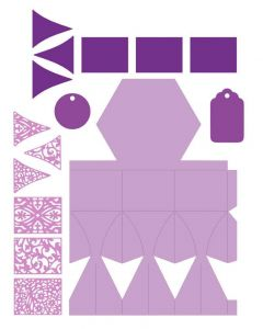 Gemini Dimensionals Box Making Die - Hexagon Gift Box