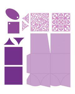 Gemini Dimensionals Box Making Die - Square Petal Box