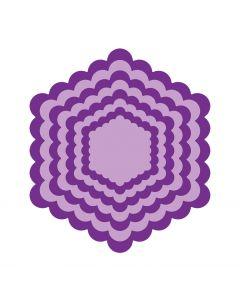 Gemini Elements Die - Scalloped Edge Hexagon