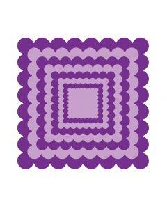 Gemini Elements Die - Scalloped Edge Square