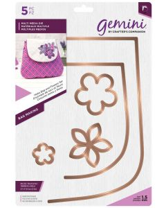 Gemini Multi Media Bag Making Metal Die - Hobo Bag and Flowers Set